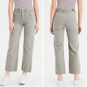 american eagle high waisted cropped jeans
